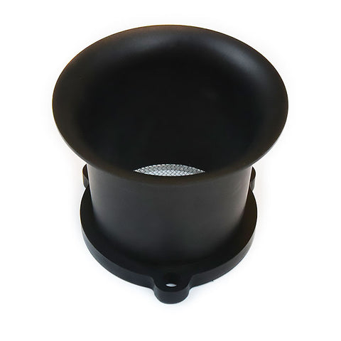 "2.5"" Aluminum Air VELOCITY STACK (Thick Base) matte black"