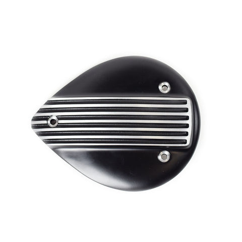 Mini Flat Shell Air Cleaner Cover - Black Fin