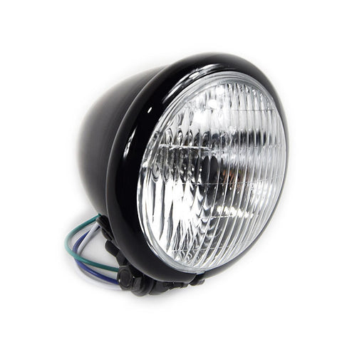 motorcycle Headlight - Black Gloss zero engineering