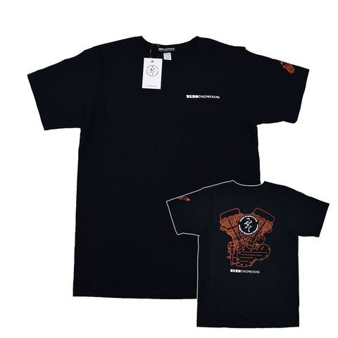 Zero Engineering Engine Shirt - Black Short Sleeve