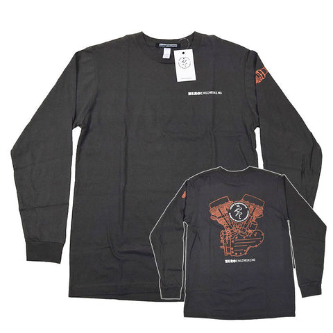 Zero Engineering Engine Shirt - Charcoal Long Sleeve