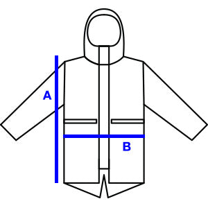 Fishtail Parka Sizing Chart