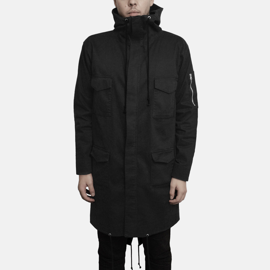 Fishtail Anorak (Black)