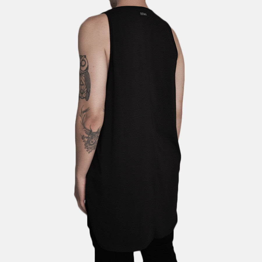Scoop Longline Tank (Black)