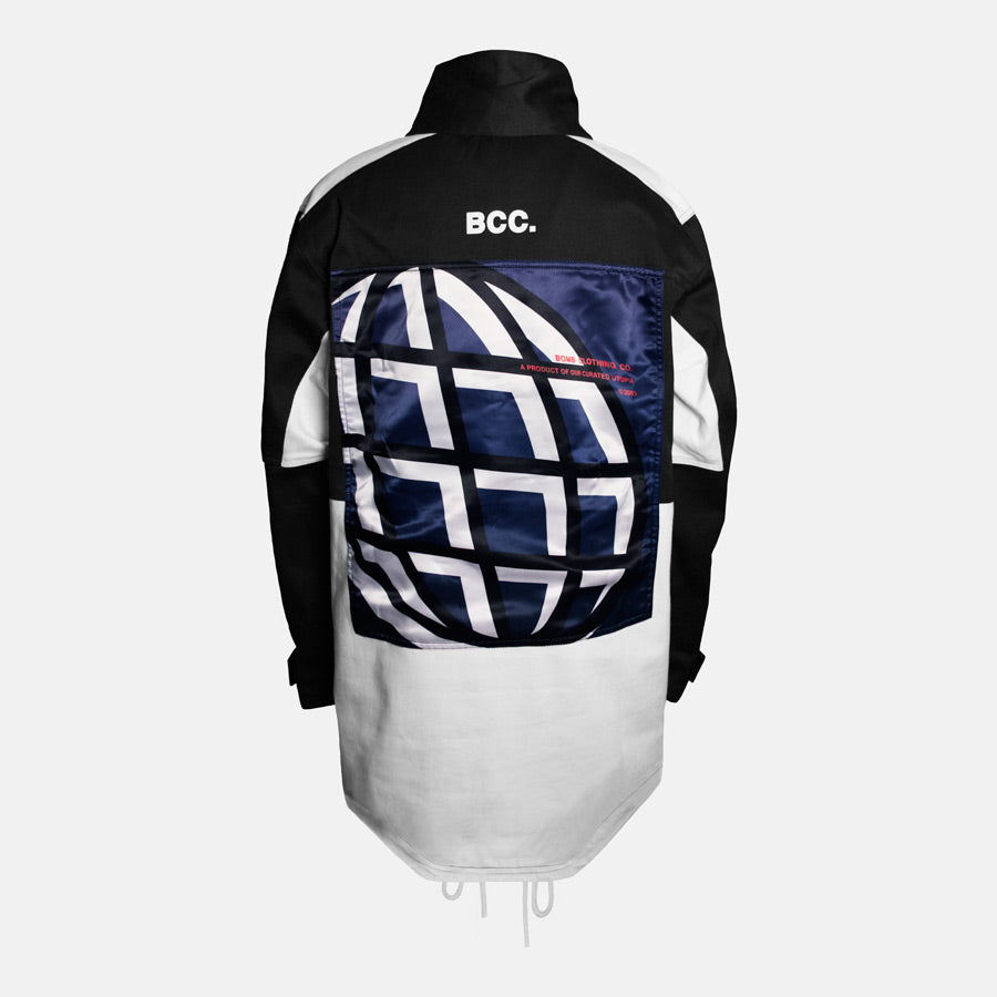 Bomb Clothing co. Pullover Anorak Back