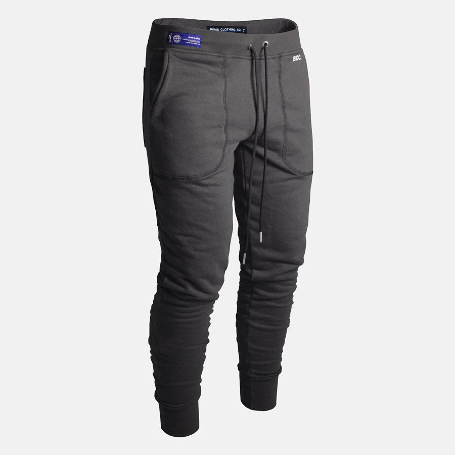 Front view of Bomb Clothing co. Sweatpants in Dark Grey