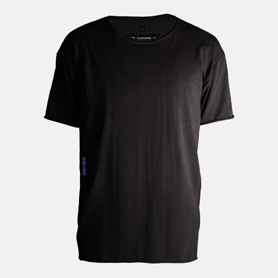 Front view of Essential tshirt in black by Bomb Clothing co.