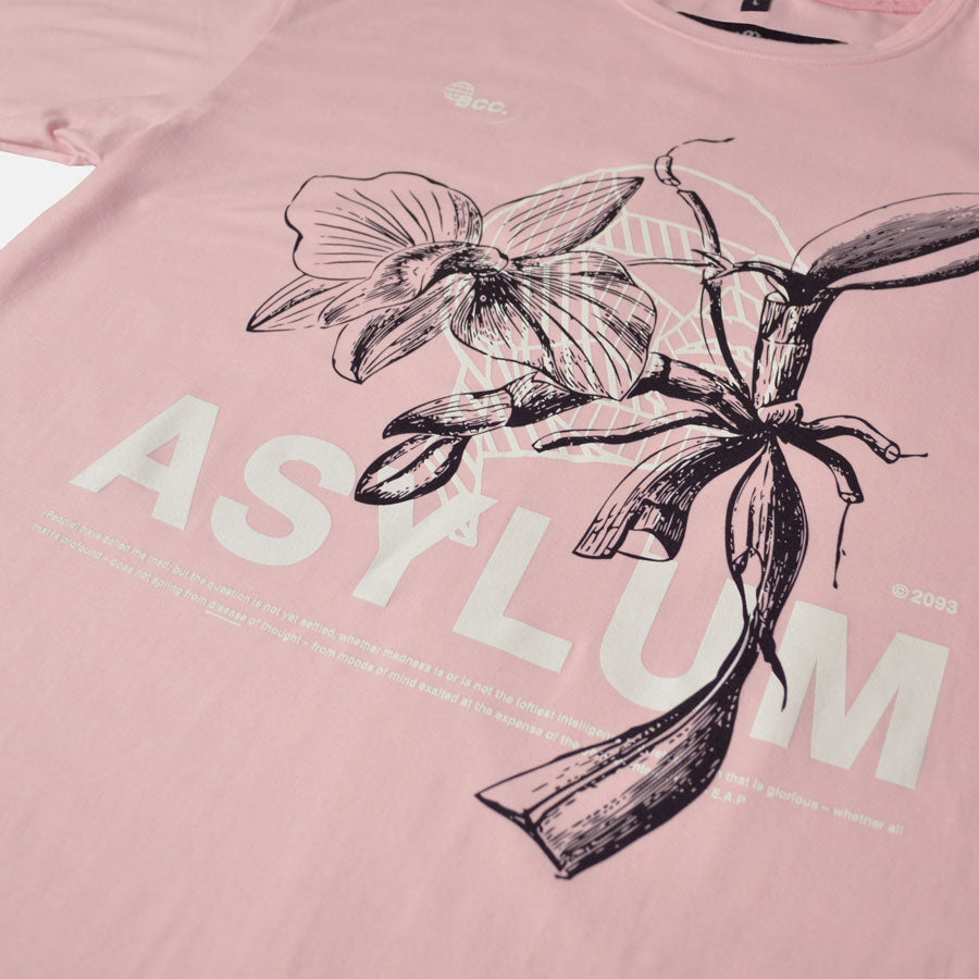 Detailed shot of Asylum artwork by Bomb Clothing co.
