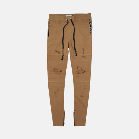 Distressed Desert Panelled Pants