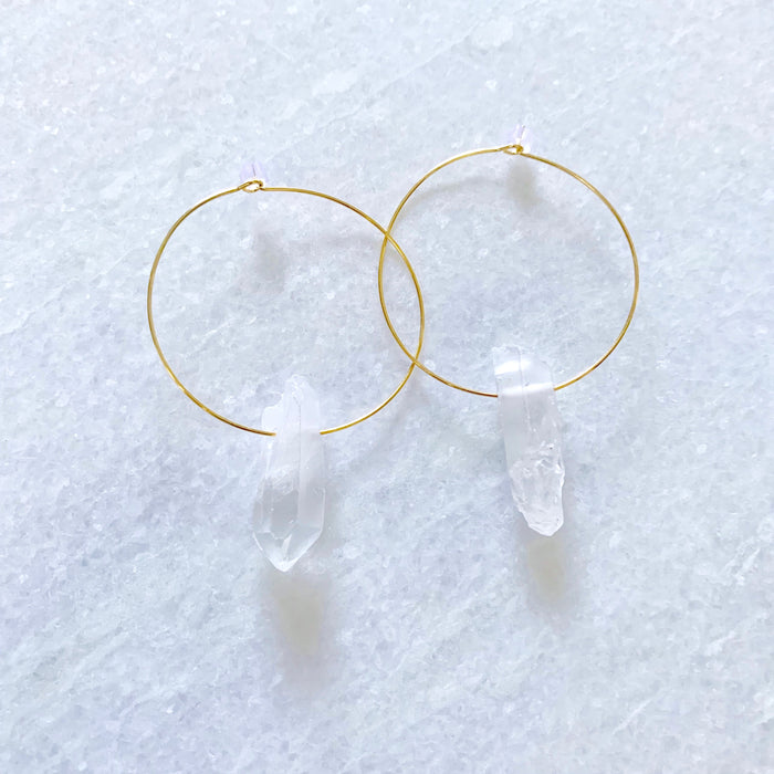 clear quartz rox hoops