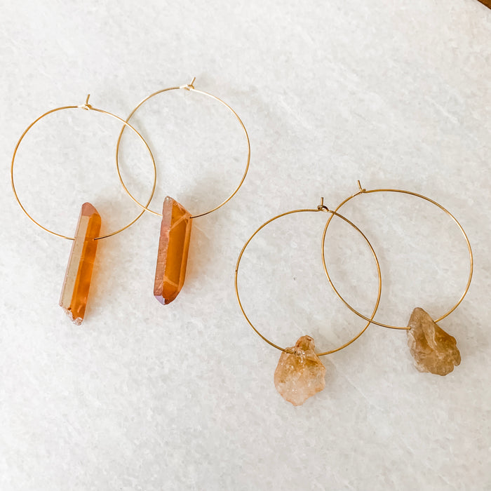 rox hoop earrings