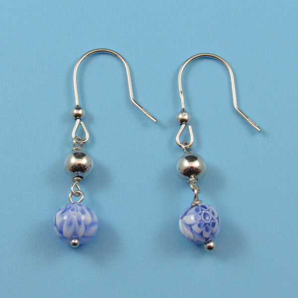 2229 - Blue Murano Bead Earrings