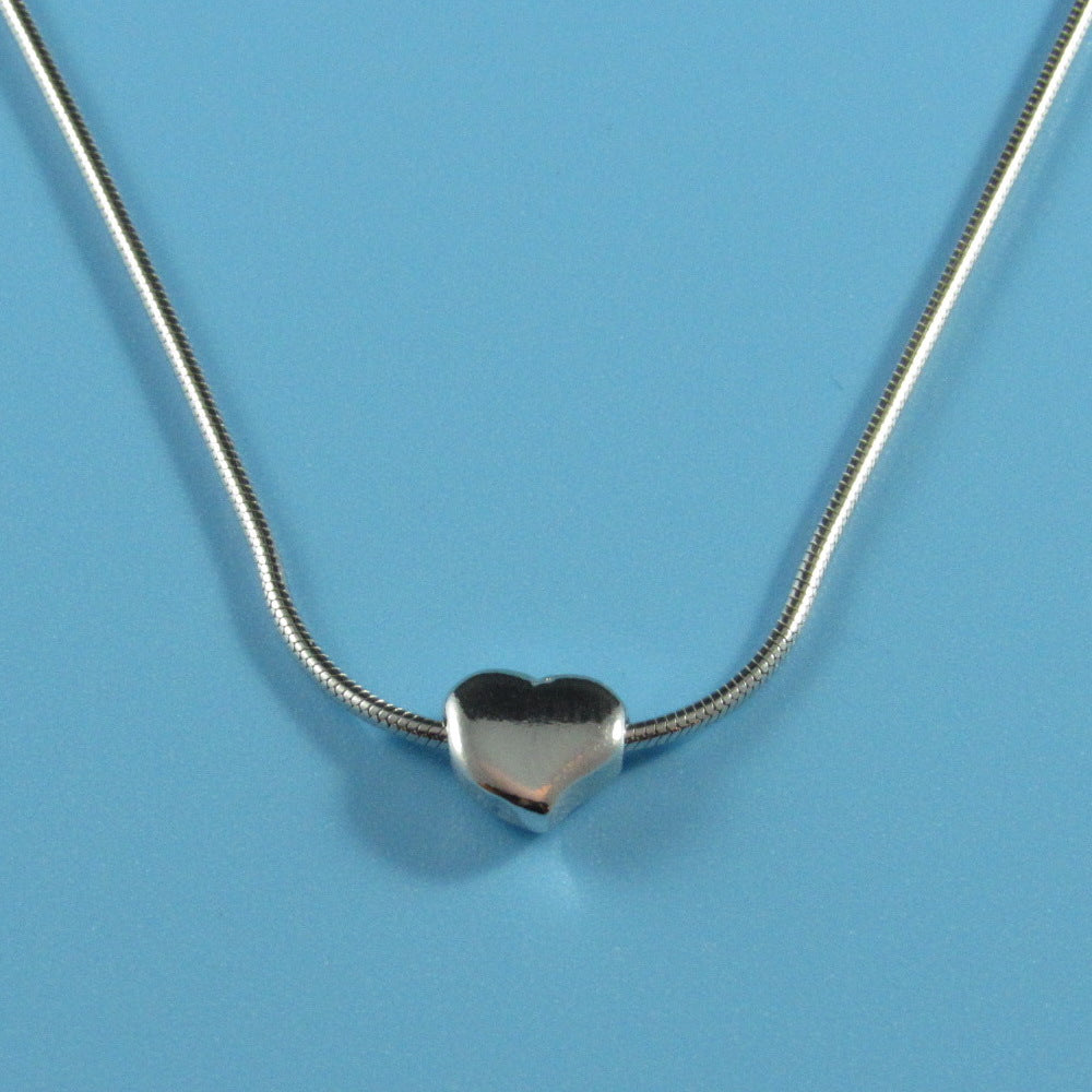 2267 - Snake Chain with Heart Necklace