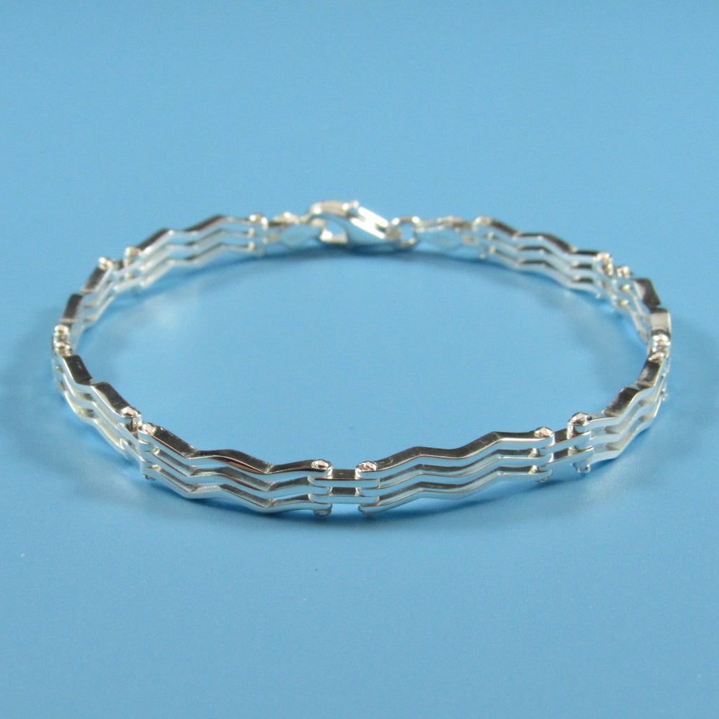 2861 - Zig-Zag Parallel Lines with Fence Rail Bracelet
