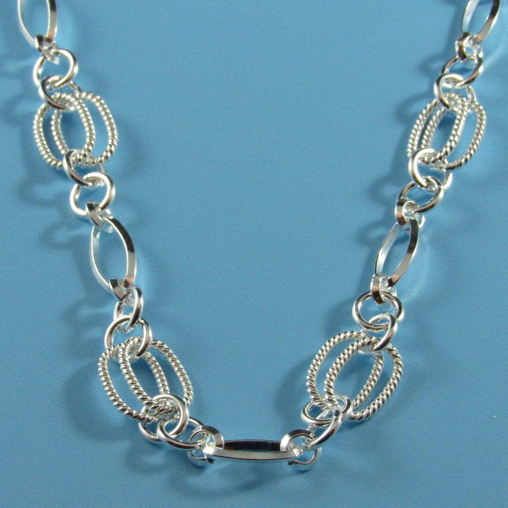 2914 - Double Twisted Ovals Necklace - 17