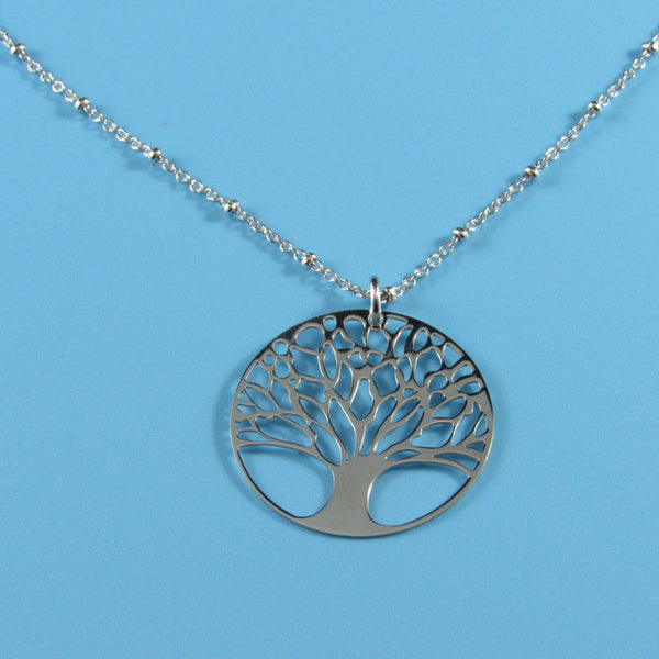 4180 - Top Selling Tree of Life Pendant on Saturn Chain Necklace - 17