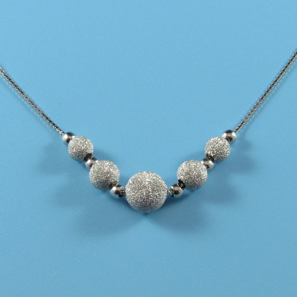 4326 - Sparkle Center Bead Necklace - 18