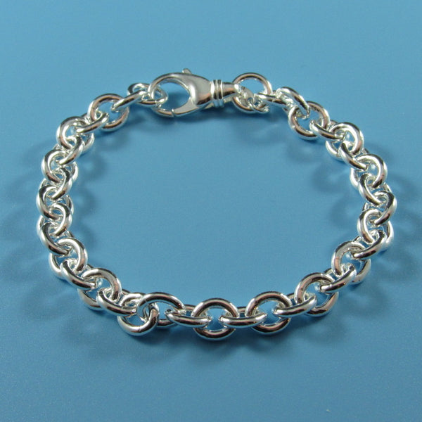 4353 - Sterling Silver Solid 7.1mm Round Cable Bracelet
