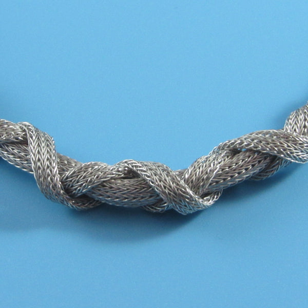 4409 - Nautical Woven Rope Mesh Necklace - 18