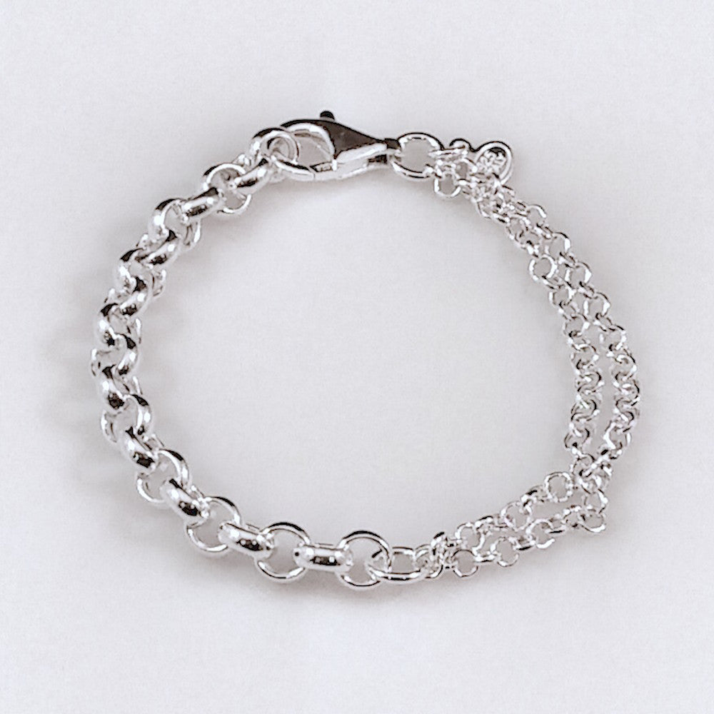 4432 - Tres Chic Single Strand, Dual Chain Bracelet - 7.5