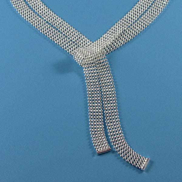 4447 - Sterling Silver Tie Necklace