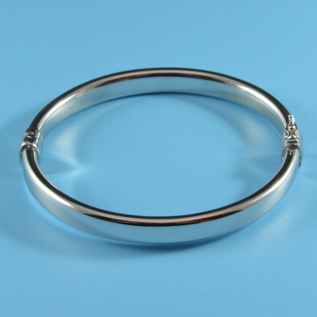 4484 - 8mm Flat Dome Bangle with Hinge Clasp