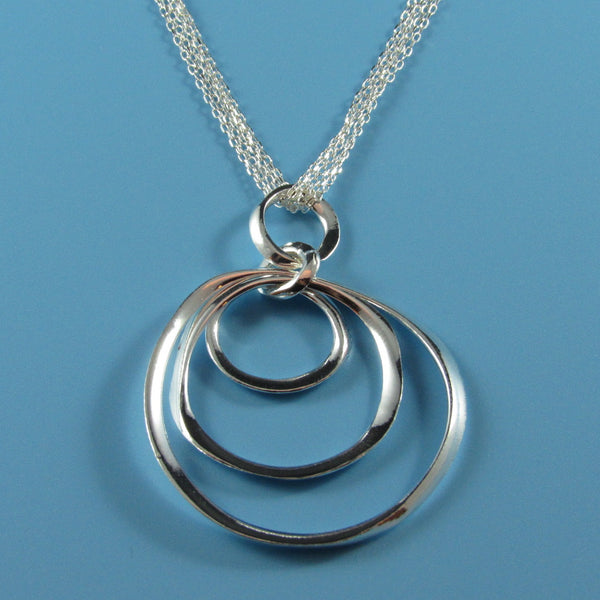 4495 - Concentric Circles Dangle Necklace - 16