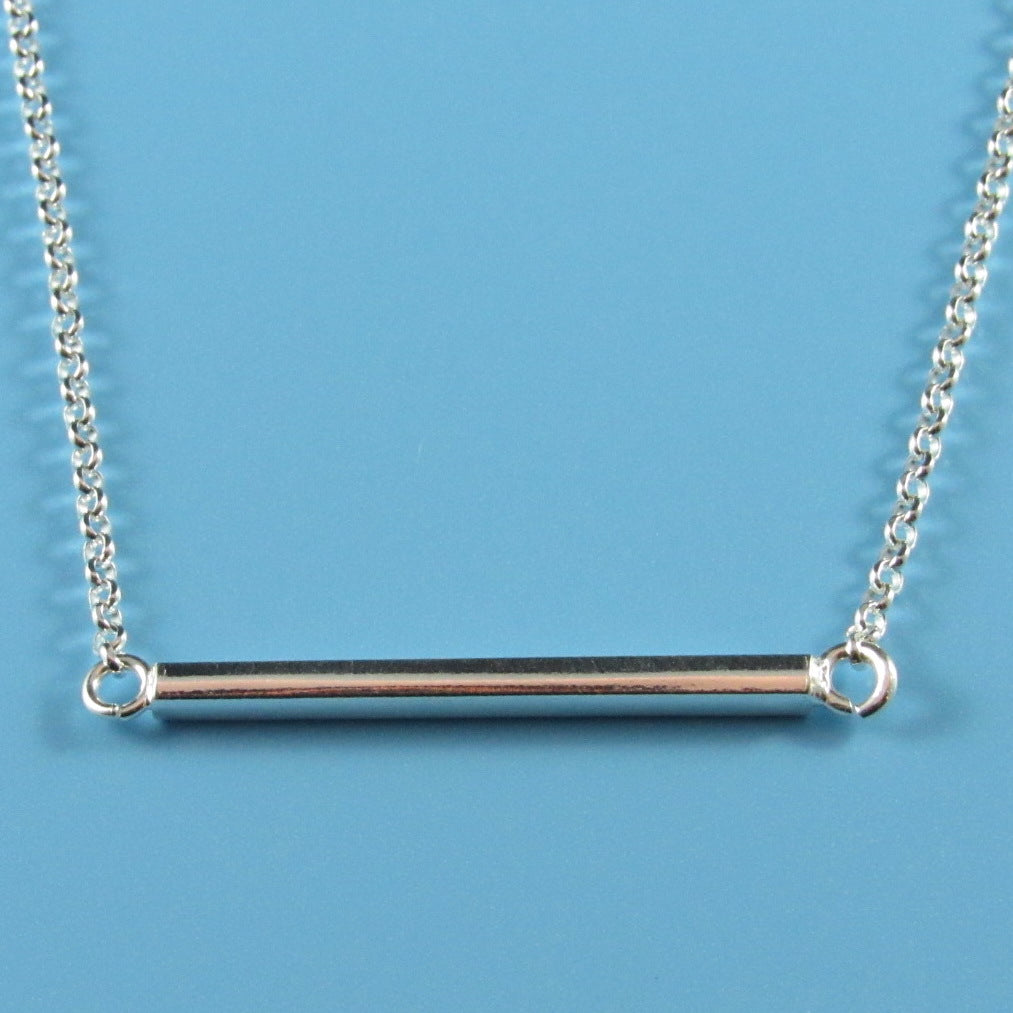 4513 - Delicate Necklace with Center Bar - 17