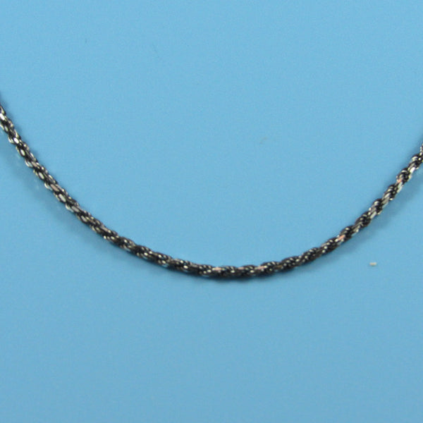 4518 - 1.5mm Ruthenium Diamond Cut Rope - 18