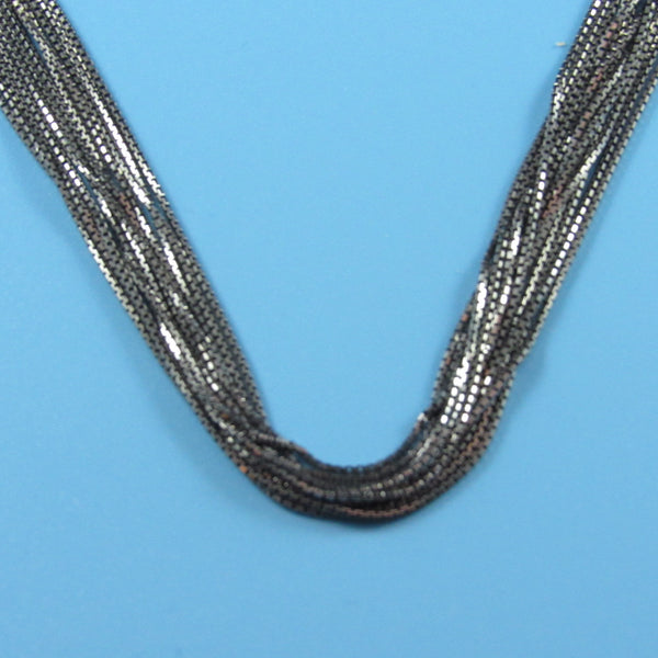 4519 - Silky 12-Strand Ruthenium Necklace with Magnetic Clasp - 18