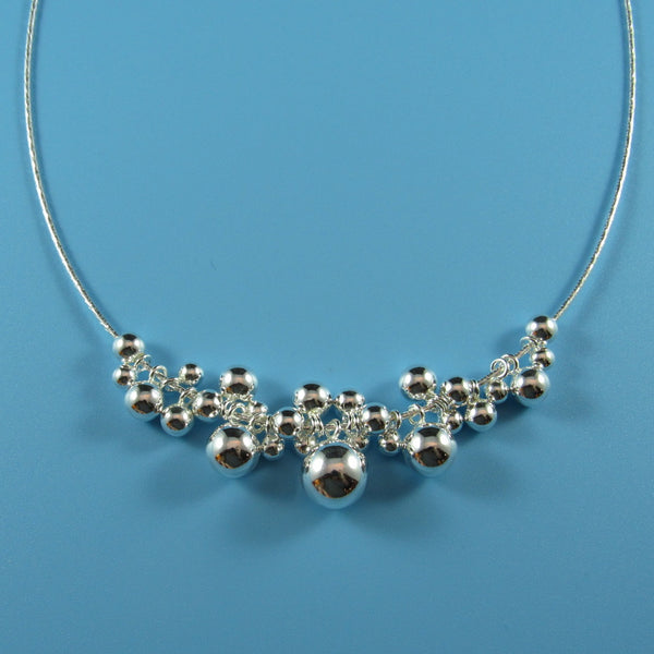 4526 - Bubble Necklace on Rigid Wire - 16