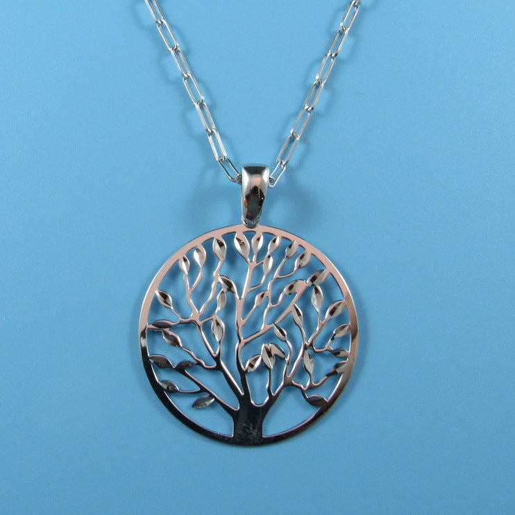 4528 - 35mm Diamond Cut Tree of Life Pendant - 28