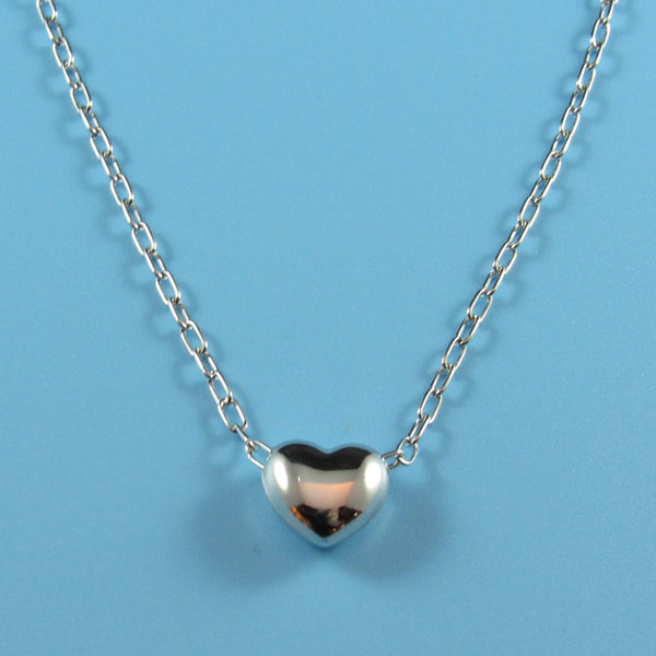 4535 - Sterling Chain with Sliding Heart - 17
