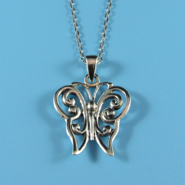 4536 - Butterfly Pendant on Sterling Chain - 18