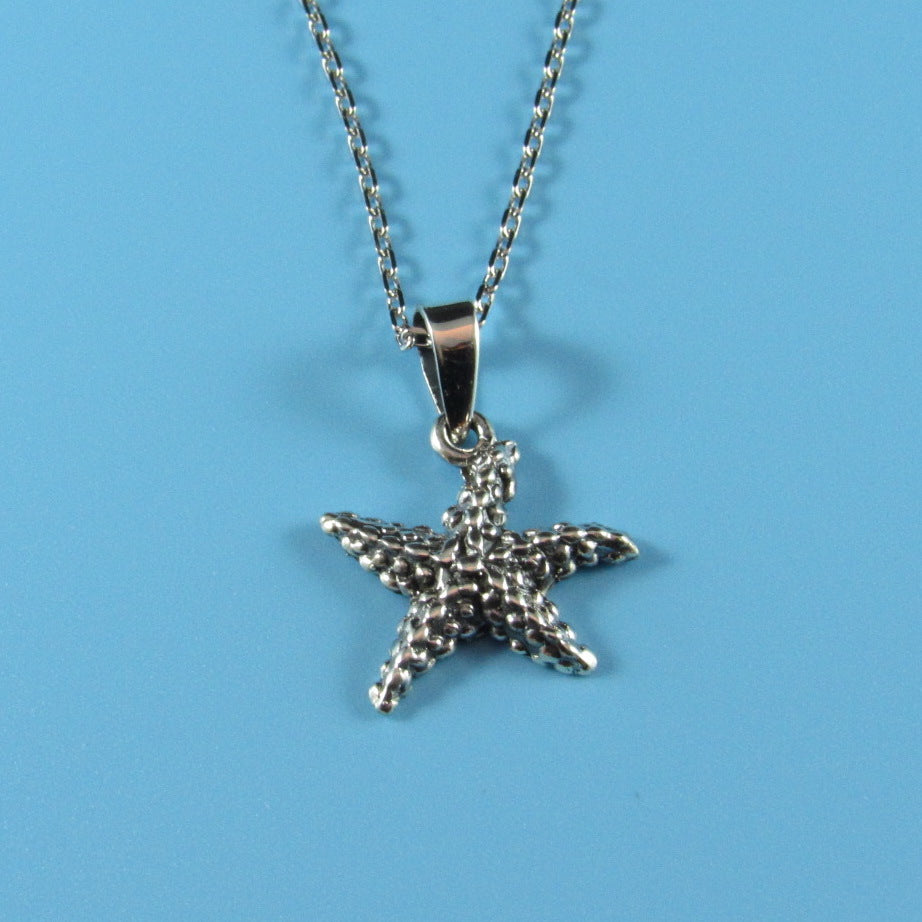 4542 - Sea Star Pendant on Sterling Chain - 16