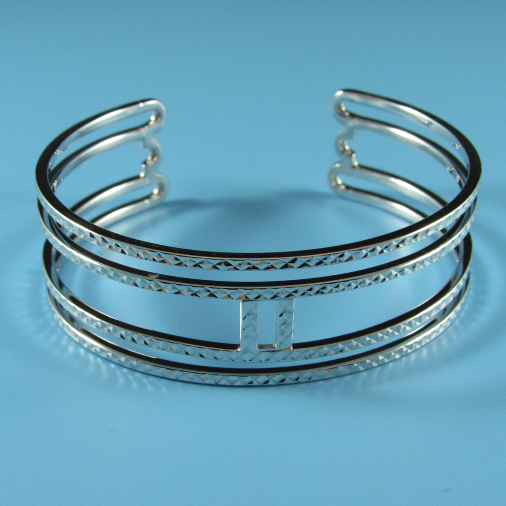 4545 - Sterling Silver Diamond Cut