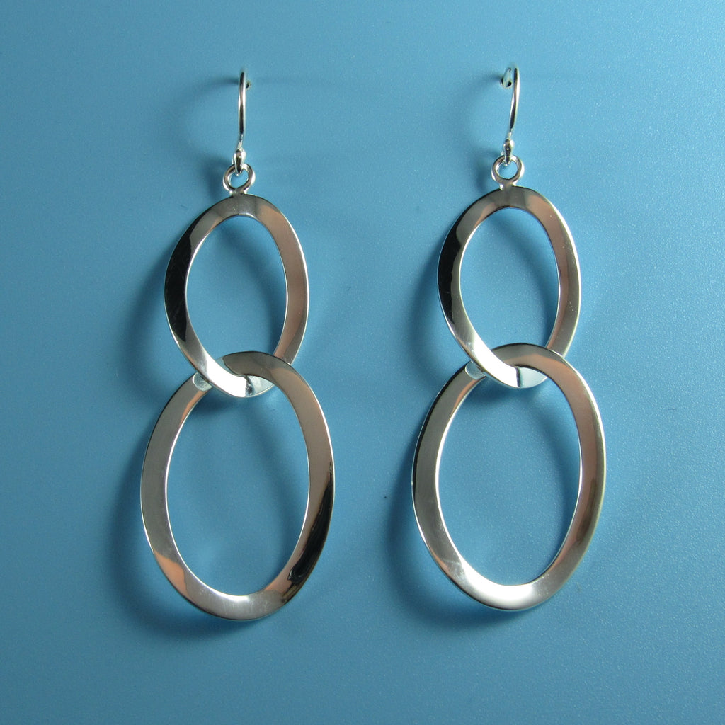 4547 - Classic Double Oval Drop Earrings