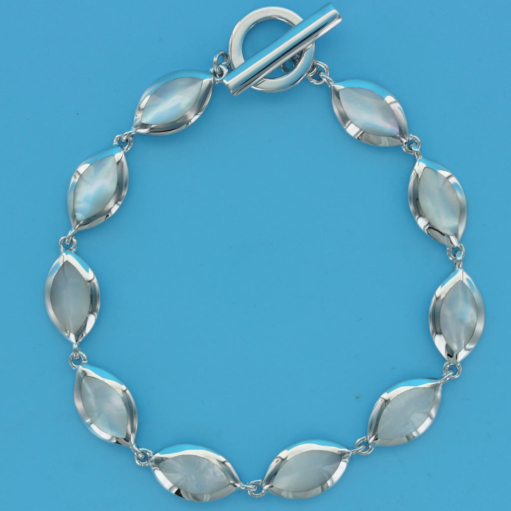 4553-Mother of Pearl Ovals Bracelet
