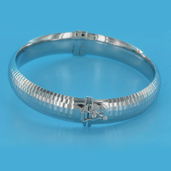 4560-Etched Diamond Cut Bangle