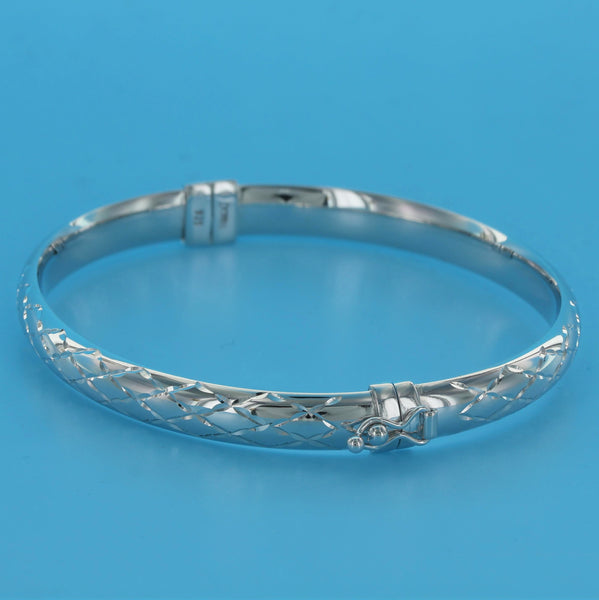 4567-CrissCross Diamond Cut Bangle