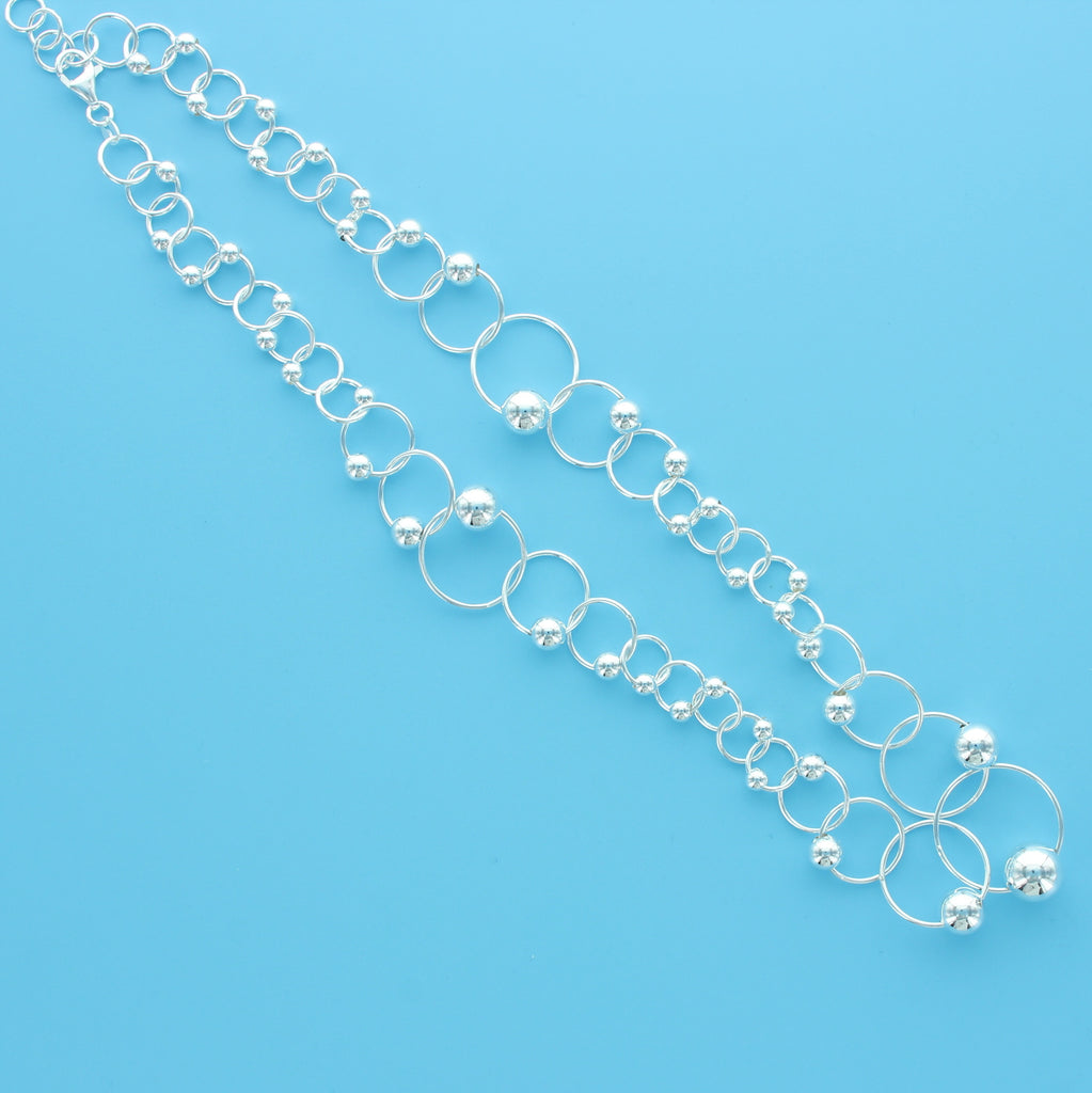 4571-Ball on Hoop Necklace