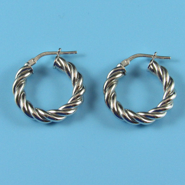 6128 - Sterling Twisted Round Hoop