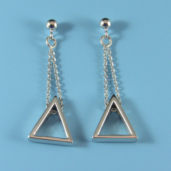 6614 - Geometric Triangle Dangle Earring