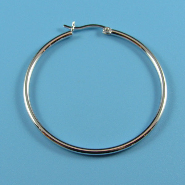 6648 - 40mm High Polished 2mm Round Tube Hoops