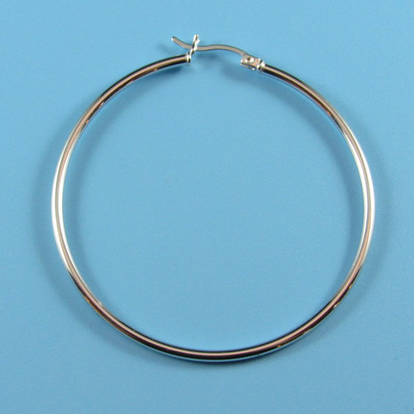 6649 - 50mm High Polished 2mm Round Tube Hoops