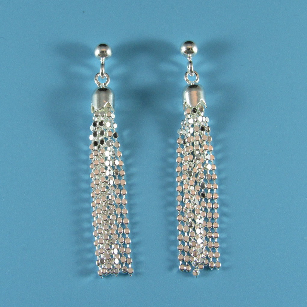 6651 - Diamond Cut Tassel Earring