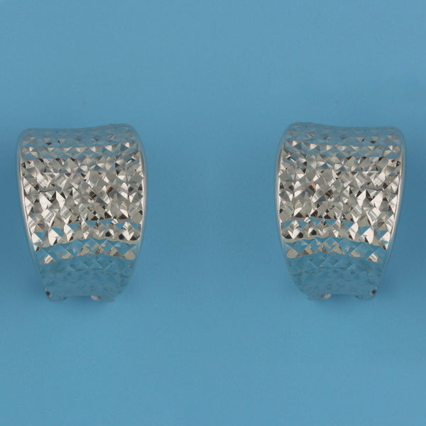 6658-Diamond Cut C Hoop Earrings