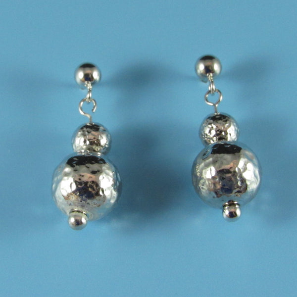 9306 - 10mm Hammered Bead Earring