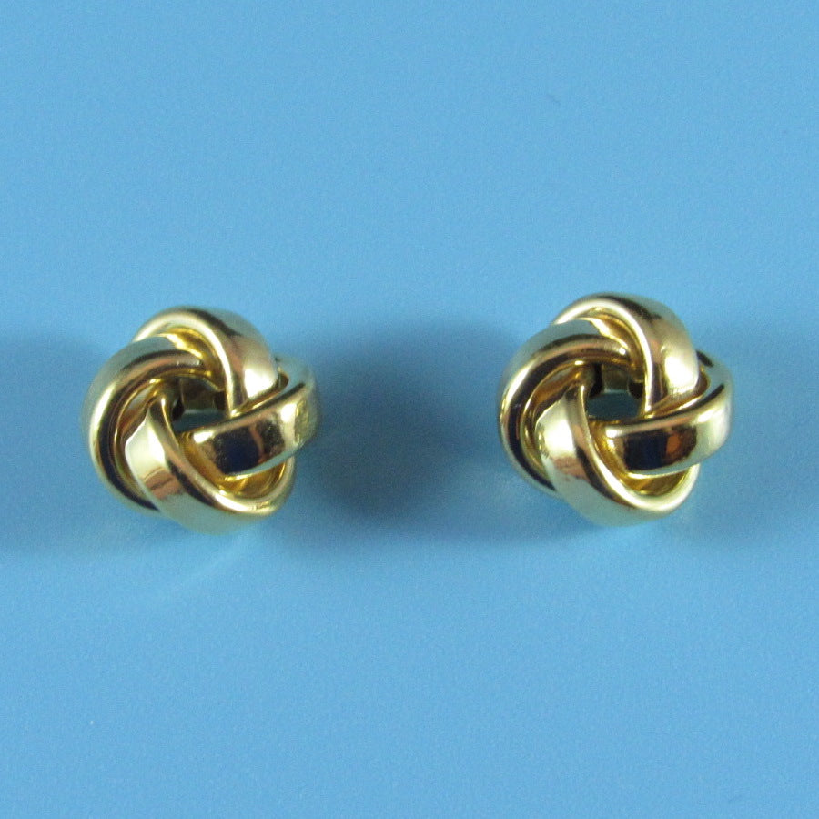 9500 - 14kt Yellow Gold Love Knot Earrings
