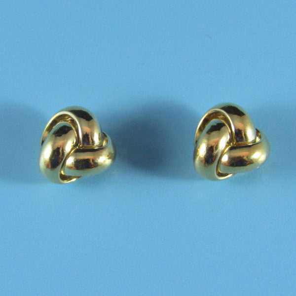 9501 - 14kt Yellow Gold Trinity Knot Earring